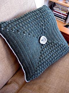 Crochet pillow front