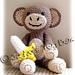 Amigurumi Monkey with Banana pattern