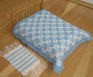 bedspread and rug