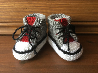 Little Converse Booties Knitting Pattern