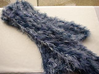 Blue Fluffy Scarf