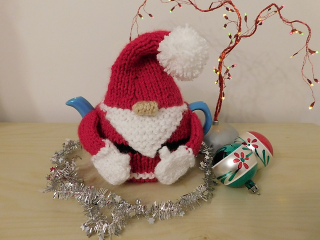 Christmas Tea Cozies, Santa Tea Cozy by Loraine Birchall