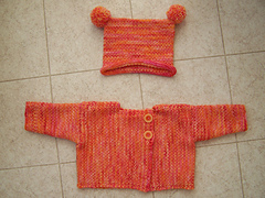 Half Linen Stitch Baby Sweater