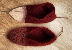"""Finished knitting. """"Felted"""" versions aren't a whole lot smaller."""