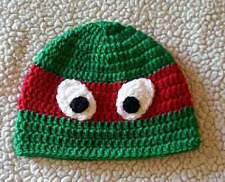 Winter Hat Teenage Mutant Ninja Turtle Hat Child/'s Ninja Hat Crochet Ninja Turtle Hat