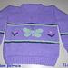 Butterfly sweater pattern