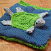 Ocean Textures Baby Book:  Turtle & Goby pattern