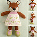 Girl fox in a flowery frock pattern