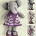 Girl Elephant in a Frondy Frock pattern