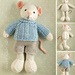 boy mouse in a cabled sweater pattern