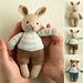 mini boy bunny and bear pattern