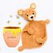 Teddy bear crochet lovey pattern