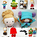 Dress Me Up doll and 6 outfits pattern