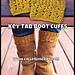 Key Tab Boot Cuffs pattern