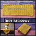 Key Tab Cowl pattern