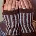 Winter Solstice Fingerless mitts pattern