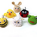 Easter egg cozies (six animals) pattern