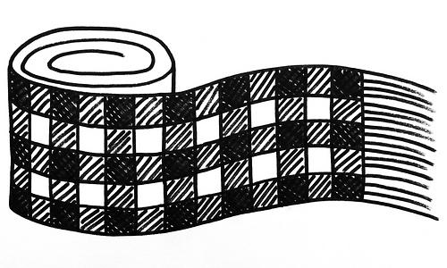 Straight plaid scarf