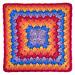 "Harlequin Shells 12"" Crochet Square pattern"