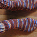 Bonkers Socks from the Toe Up pattern