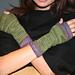 Koigu Linen Stitch Fingerless Gloves pattern