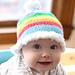 Rainbow Skies Baby Hat pattern