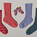 #12A Adult Socks II: Play on Ribs pattern