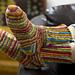 Colorful Crochet Socks #WR1783 pattern