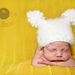 Fuzzy, White Newborn Hat pattern