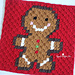 gingerbread man pixel square pattern