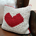 Intarsia Heart cushion pattern