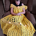 Princess Dress Blanket yellow pattern