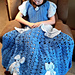 Princess Dress Blanket Blue pattern