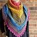 Skipping Stones Shawl/ Triangle Scarf pattern