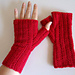 Lazy Rib Fingerless Mitts pattern