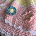 Kathleen Blanket with Flowers pattern