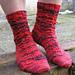 Lace Medallion Slipper Socks pattern