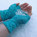 Diamonds and Pearls mitts pattern