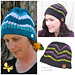Subtle Chevron Buttoned Beanie and Slouch pattern