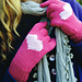 Seed Stitch Heart Gloves pattern