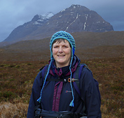Lovely warm head in a glorious place (Liathach in background)