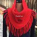 Loom Knit Fringed Bandana pattern