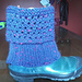 Ridged Eyelet Boot Cuff pattern