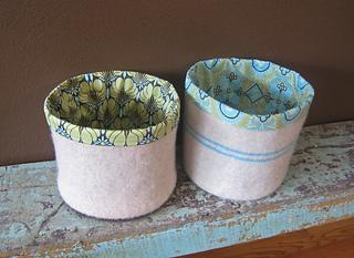 felted buckets