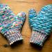Angora Stuffed Mittens pattern