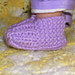 """18"""" Doll Knitted Slippers pattern"""