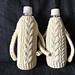 Aran Water Bottle Cozy pattern