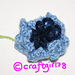 Cornflower (crochet version) pattern