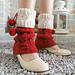 Miss Santa Cuff Leg Warmers pattern