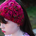 CraftSanity Head Wrap Pattern with I-cord Flower Motif pattern